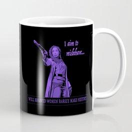 I Aim To Misbehave (Purple) Coffee Mug