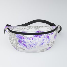 ORCHIDS PURPLE VINES AND CHERRY BLOSSOMS Fanny Pack