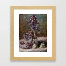 Iris in a Vase Painting by Marie Bracquemond, 1886 Framed Art Print