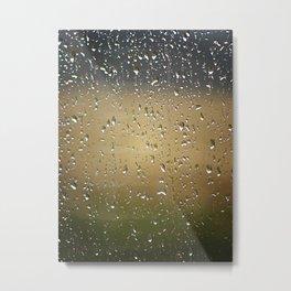 Raindrops Keep Falling Metal Print