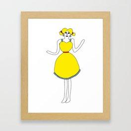 The girl in yellow Framed Art Print