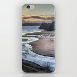 Evening at Three Cliffs Bay Gower iPhone Skin