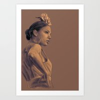 gypsy Art Prints featuring Gypsy by Daniel Cisneros