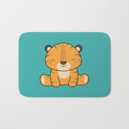 Kawaii Cute Baby Tiger Bath Mat