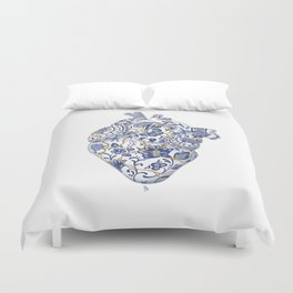 Broken heart - kintsugi Duvet Cover