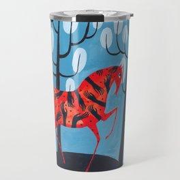 Smug red horse Travel Mug