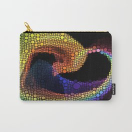Bubble Heart Art Carry-All Pouch