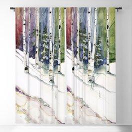 4 Season Watercolor Collection - Winter Blackout Curtain