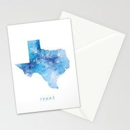 Texas Map Stationery Cards