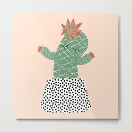 Mrs Succulent Metal Print