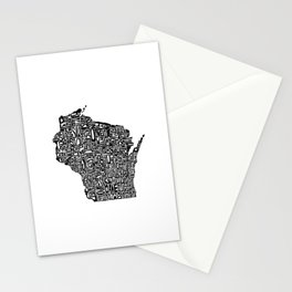 Typographic Wisconsin Stationery Cards