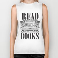 literature Biker Tanks featuring Literature Poster by Ryan Huddle House of H