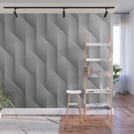 Gradient Gray Diamonds Geometric Shapes Wall Mural