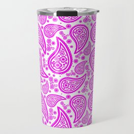 Paisley (Magenta & White Pattern) Travel Mug