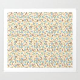 Confetti (Pastel) Art Print