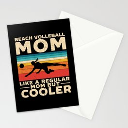 Beach Volleyball Mom Volleyball Player Mothers Day Stationery Cards