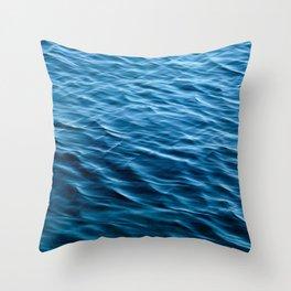 Wavy Ocean Surface Throw Pillow
