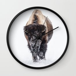 Yellowstone National Park: Lone Bull Bison Wall Clock