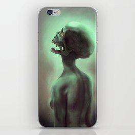 Green Skull Glowing Zombie Woman iPhone Skin