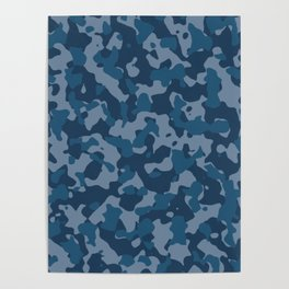 Camouflage Ocean Poster