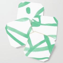 Abstract Map green Nr.2 Coaster