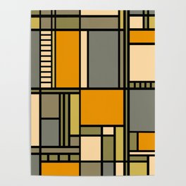 Frank Lloyd Wright Inspired Art Poster