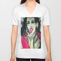 mia wallace V-neck T-shirts featuring MIA  by JANUARY FROST