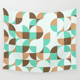 Mint and Chocolate Fresh Pattern Wall Tapestry