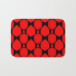 Design ornaments, on Red Bath Mat