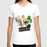 chuck T-shirts featuring CHUCK by Seedoiben