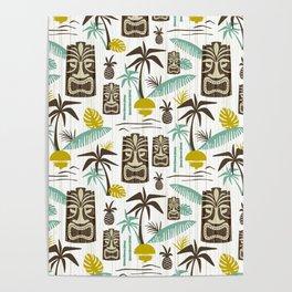 Island Tiki - White Poster