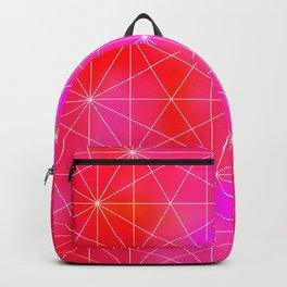 Pink Geometric Triangles Backpack