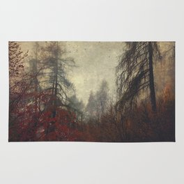the day you went away - wild mountain forest Rug