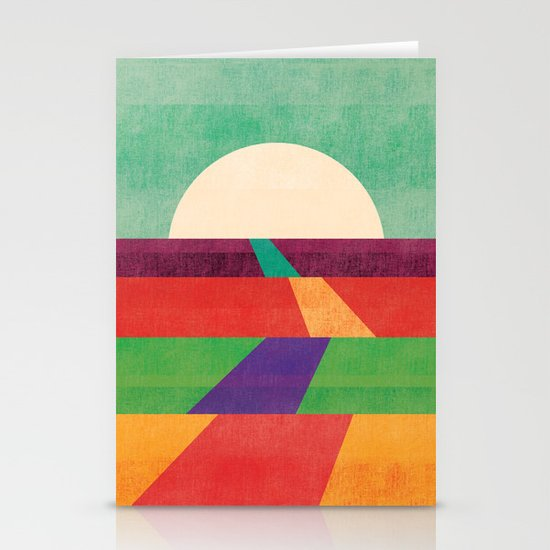 The path leads to forever Stationery Cards