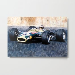 Jim Clark, Lotus Metal Print