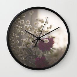 Romantic flowers Wall Clock