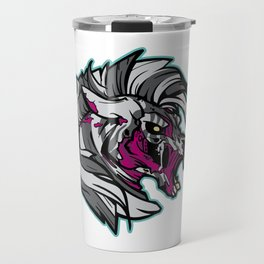 Zombie Zebra - Halloween Horror Travel Mug