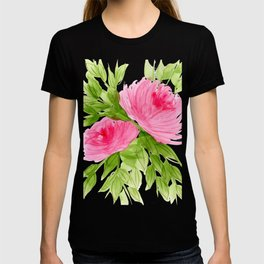 Pink Peonies in Watercolor T-shirt