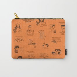 Gilmore Girls Quotes in Orange Carry-All Pouch