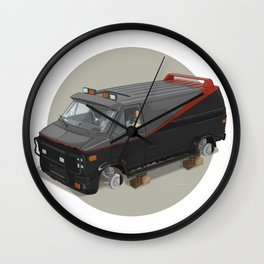 80´s tv and films cars (A team) Wall Clock
