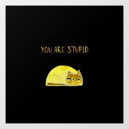 you are stupid Art Print