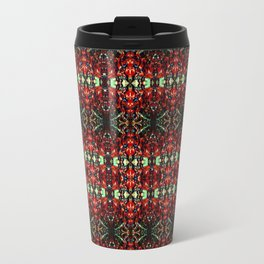 Red Kaleidoscope Metal Travel Mug