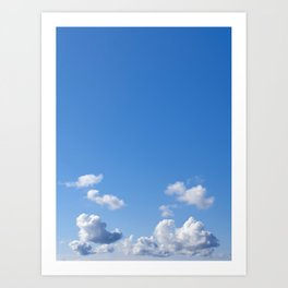 White Clouds and Blue Skies Art Print