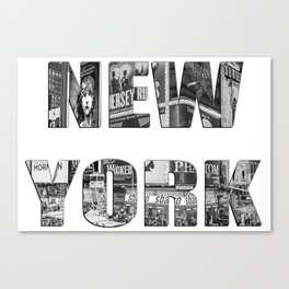 New York  B&W typography Canvas Print