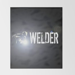 Welder Throw Blanket