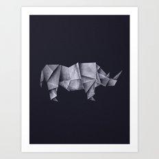 Rhinogami Art Print
