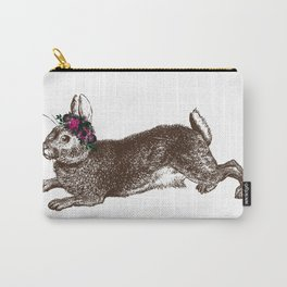 The Rabbit and Roses Carry-All Pouch