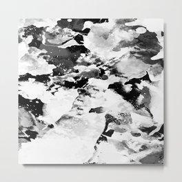 Blk Marble Metal Print