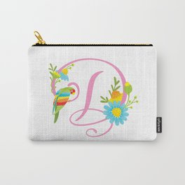 Letter D Monogram Carry-All Pouch