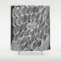 wild things Shower Curtains featuring Wild Things by Georgiana Paraschiv